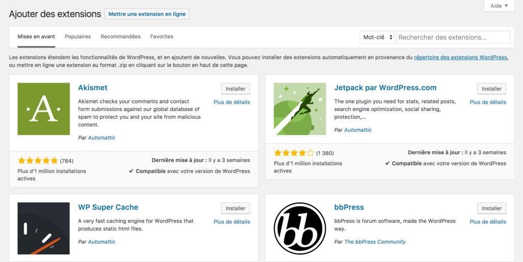 Ajouter une extension à WordPress