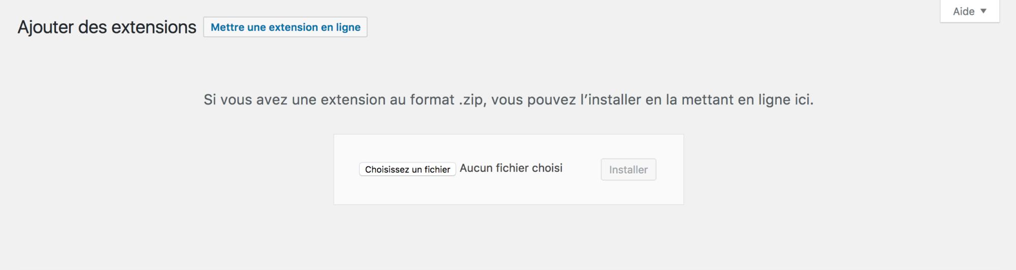 Ajouter un plugin au format .zip