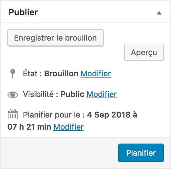 Planifier une publication